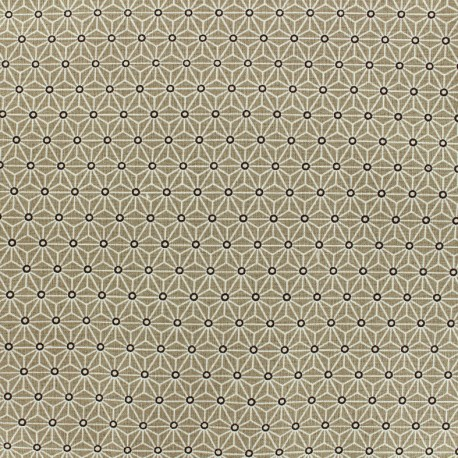 Cretonne cotton Fabric Saki - new taupe x 10 cm