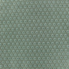 Cretonne cotton Fabric Saki - khaki x 10 cm
