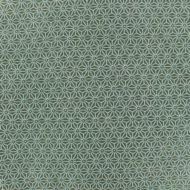 Tissu coton crétonne Saki - kaki x 10cm