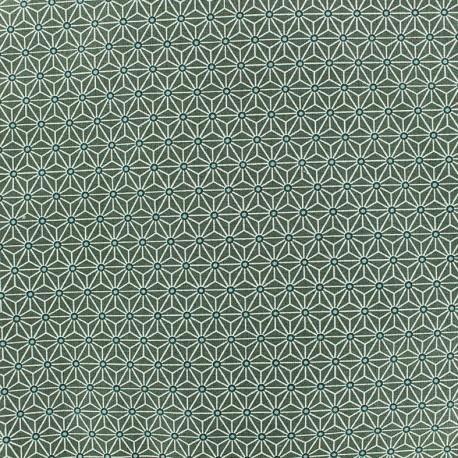 Cretonne cotton Fabric Saki - khaki x 10 cm