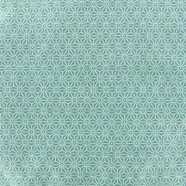 Tissu coton crétonne Saki - ether x 10cm