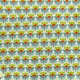 Tissu coton Oeko-tex Sven - jaune x 10cm