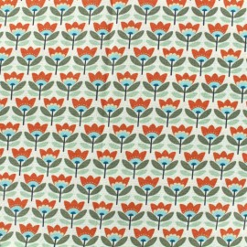 Cotton fabric Sven - orange x 10cm