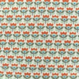 Tissu coton Oeko-tex Sven - orange x 10cm