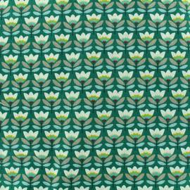 Tissu coton Sven - émeraude x 10cm