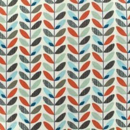 Tissu coton Olaf - orange x 10cm