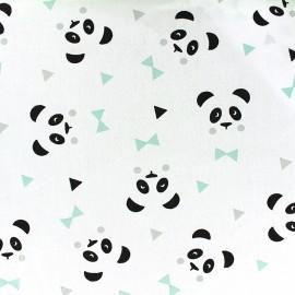 Tissu coton Oeko-tex Maony - menthe/noir x 10cm