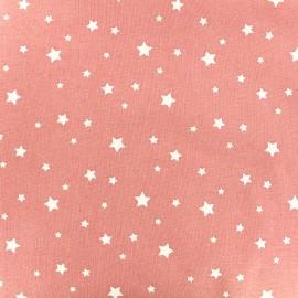 Tissu coton cretonne Scarlet - corail x 10cm