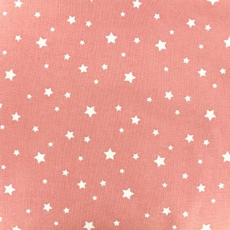 Cotton fabric Oeko-tex Zétoile - coral x 10cm