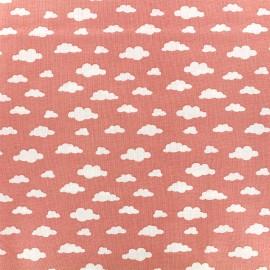 Tissu coton Oeko-tex Ligmi - corail/trendy x 10cm