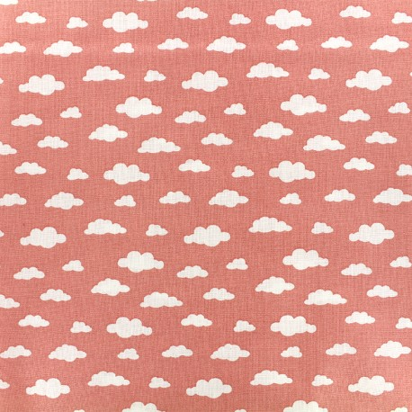 Cotton fabric Oeko-tex Ligmi - coral/trendy x 10cm