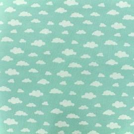 Tissu coton Oeko-tex Ligmi - menthe/trendy x 10cm