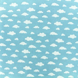 Tissu coton Oeko-tex Ligmi - bleu/trendy x 10cm