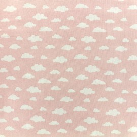 Cotton fabric Oeko-tex Ligmi - pink/maotey x 10cm