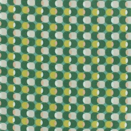 Cotton fabric Oeko-tex Pozzi - Aloe vera x 10cm