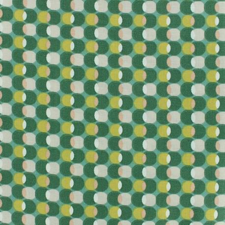 Cotton fabric Oeko-tex Pozzi - Aloe vera x 10cm
