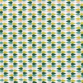 Tissu coton Oeko-tex Plima - Aloe vera x 10cm