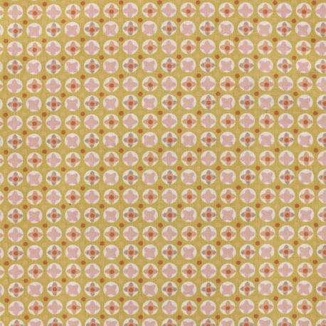 Tissu coton Oeko-tex Avrey - rose poudré x 10cm