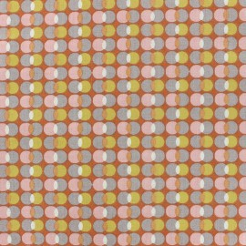 Tissu coton Oeko-tex Pozzi - rose poudré x 10cm