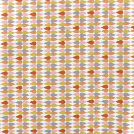 Tissu coton Oeko-tex Plima - rose poudré x 10cm