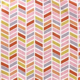 Tissu coton Oeko-tex Fulham - rose poudré x 10cm