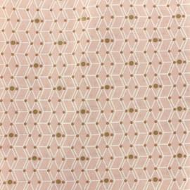 Tissu coton Oeko-tex Cubzy - rose poudré x 10cm