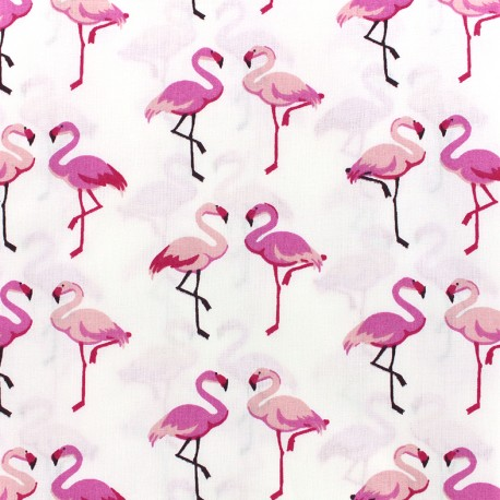 Cotton fabric Oeko-tex Flaman - pink x 10cm