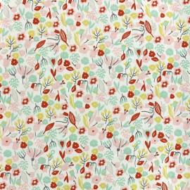 Tissu coton Oeko-tex Alice - rose/rouge/menthe x 10cm
