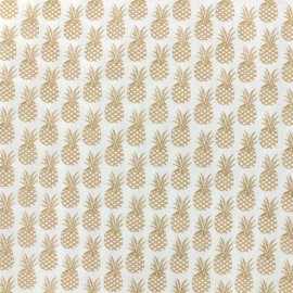 Cotton fabric Oeko-tex  Ananas - golden x 10cm
