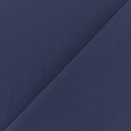 ♥ Coupon tissu 20 cm X 145 cm ♥ crêpe gaufré Linda - bleu indigo