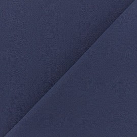 Tissu crêpe gaufré Linda - bleu indigo x 10cm