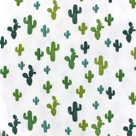 Poppy jersey fabric Arioca - cyprès/olive x 10cm