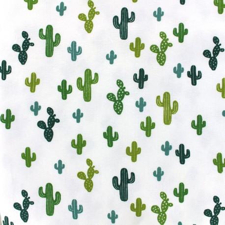 Poppy jersey Oeko-tex fabric Arioca - cyprès/olive x 10cm