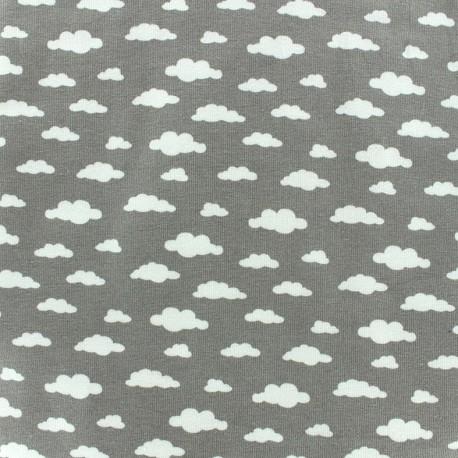 Tissu Oeko-Tex jersey Ligmi - gris/trendy x 10cm