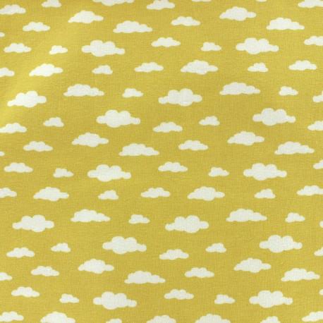 Poppy jersey Oeko-tex fabric Ligmi - yellow/trendy x 10cm