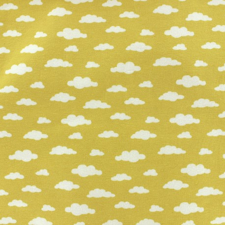 Tissu Oeko-Tex jersey Ligmi - jaune/trendy x 10cm
