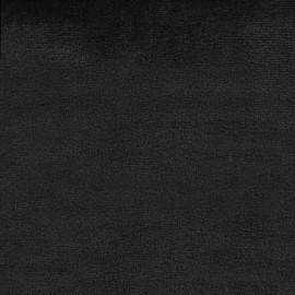 Tissu velours Brunei - noir x 10cm