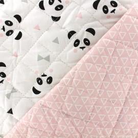 Tissu matelassé Maony/Nasua - rose dragée/noir x 10cm