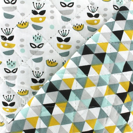 Quilted cotton fabric Anisa/Trimix - curry x 10cm