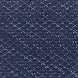 Tissu coton Koï - bleu nuit x 10cm