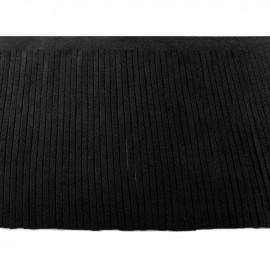 Suede fringe ribbon 12cm - black x 50cm