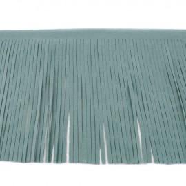 Suede fringe ribbon 12cm - lichen x 50cm