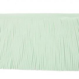 Suede fringe ribbon 12cm - light mint x 50cm