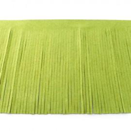 Suede fringe ribbon 12cm - lime x 50cm