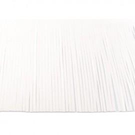 Suede fringe ribbon 12cm - white x 50cm