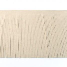 Suede fringe ribbon 12cm - light beige x 50cm