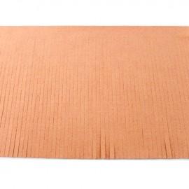 Suede fringe ribbon 12cm - peach x 50cm