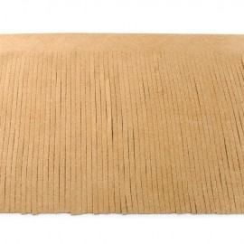 Galon frange suédine 12cm - sable x 50cm