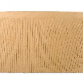 Suede fringe ribbon 12cm - sand x 50cm