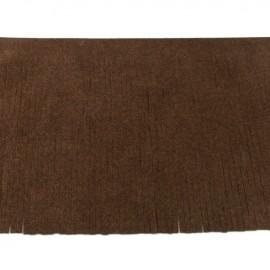 Galon frange suédine 12cm - chocolat x 50cm